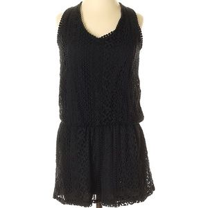 Xhilaration black lace romper xs nwot